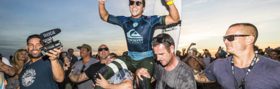 Julian Wilson (AUS) Winner of the Quiksilver Pro France 2018